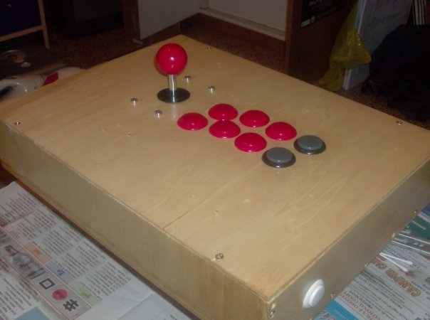 Plywood arcade stick - May 2009